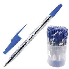 """Ручка шариковая СТАММ """"511"""", корпус прозрачный, узел 1,2 мм, линия письма 1 мм, синяя"""