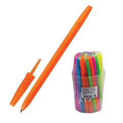 """Ручка шариковая СТАММ """"Оптима"""", корпус неоновый ассорти, узел 1,2 мм, линия письма 0,7 мм, синяя"""