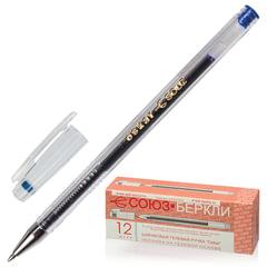 """Ручка гелевая СОЮЗ """"Oskar"""", корпус прозрачный, узел 0,7 мм, линия письма 0,4 мм, синяя"""