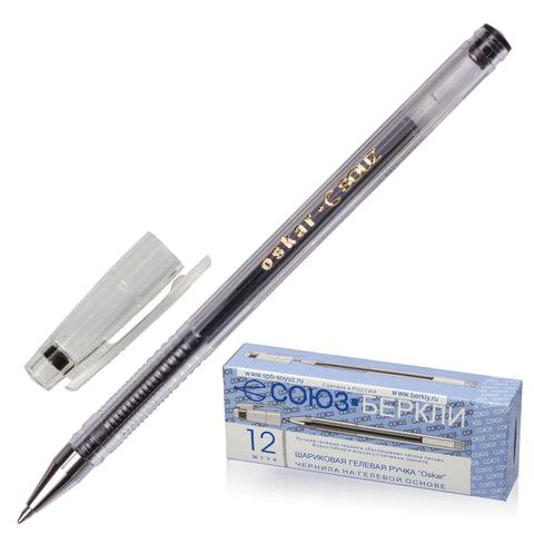 """Ручка гелевая СОЮЗ """"Oskar"""", корпус прозрачный, узел 0,7 мм, линия письма 0,4 мм, черная"""
