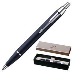 """Ручка шариковая PARKER """"IM Blue Lacquer CT"""", корпус синий лак, латунь, хромированные детали, S0856460, синяя"""
