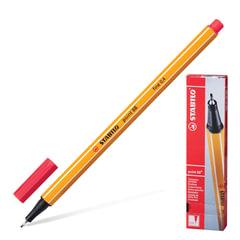 """Ручка капиллярная STABILO """"Point"""", корпус оранжевый, толщина письма 0,4 мм, неоновая красная"""