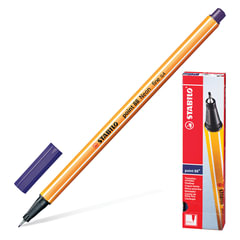 """Ручка капиллярная STABILO """"Point"""", корпус оранжевый, толщина письма 0,4 мм, берлинская лазурь"""