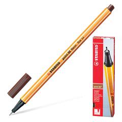 """Ручка капиллярная STABILO """"Point"""", корпус оранжевый, толщина письма 0,4 мм, коричневая"""