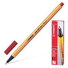 """Ручка капиллярная STABILO """"Point"""", корпус оранжевый, толщина письма 0,4 мм, темно-красная"""