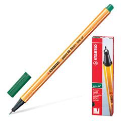 """Ручка капиллярная STABILO """"Point"""", корпус оранжевый, толщина письма 0,4 мм, зеленовато-бирюзовая"""