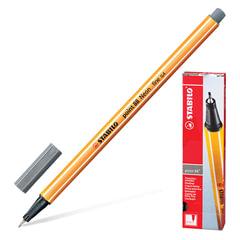 """Ручка капиллярная STABILO """"Point"""", корпус оранжевый, толщина письма 0,4 мм, темно-серая"""