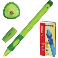 """Ручка шариковая STABILO """"Left Right"""", для правшей, корпус зеленый, толщина письма 0,45 мм, синяя"""