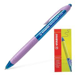 """Ручка шариковая масляная автоматическая STABILO """"Performer+"""", лиловые детали, узел 0,5 мм, линия 0,3 мм, синяя"""