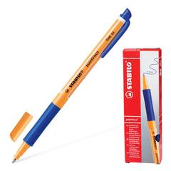 """Ручка гелевая STABILO """"PointVisco"""", корпус оранжевый, узел 1 мм, линия 0,5 мм, резиновый упор, синяя"""