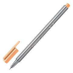 Ручка капиллярная STAEDTLER (Германия), трехгранная, толщина письма 0,3 мм, светло-оранжевая