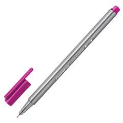 Ручка капиллярная STAEDTLER (Германия), трехгранная, толщина письма 0,3 мм, красно-фиолетовая
