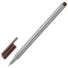 Ручка капиллярная STAEDTLER (Германия), трехгранная, толщина письма 0,3 мм, табак