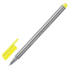 Ручка капиллярная STAEDTLER (Германия), трехгранная, толщина письма 0,3 мм, неоновая желтая