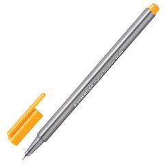 Ручка капиллярная STAEDTLER (Германия), трехгранная, толщина письма 0,3 мм, неоновая оранжевая