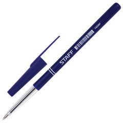 """Ручка шариковая STAFF """"Офисная"""", СИНЯЯ, корпус синий, узел 0,7 мм, линия письма 0,35 мм"""