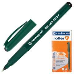 Ручка-роллер CENTROPEN, трехгранная, корпус зеленый, толщина письма 0,3 мм, черная
