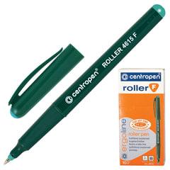 Ручка-роллер CENTROPEN, трехгранная, корпус зеленый, толщина письма 0,3 мм, зеленая