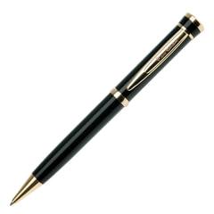 """Ручка шариковая PIERRE CARDIN (Пьер Карден) """"Gamme"""", корпус черный, латунь, золотистые детали, синяя, PC0805BP"""