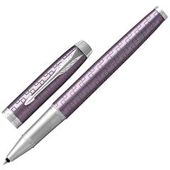 """Ручка-роллер подарочная PARKER """"IM Premium Dark Violet CT"""", фиолетовый корпус с гравировкой, хромированные детали, черная, 1931639"""