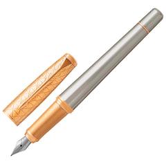 """Ручка перьевая PARKER """"Urban Premium Aureate Powder GT"""", серебристый анодированный алюминий, позолота, синяя, 1931571"""