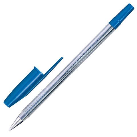 """Ручка шариковая UNI (Япония) """"Fine"""", корпус прозрачный, узел 0,7 мм, линия 0,4 мм, синяя"""