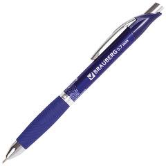 """Ручка шариковая масляная автоматическая с грипом BRAUBERG """"Jet-X"""", СИНЯЯ, узел 0,7 мм, линия письма 0,35 мм, 142692"""