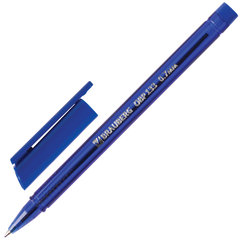 """Ручка шариковая масляная BRAUBERG """"Marine"""", СИНЯЯ, корпус тонированный синий, узел 0,7 мм, линия письма 0,35 мм, 142709"""