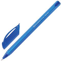 "Ручка шариковая масляная BRAUBERG ""Extra Glide Tone"", СИНЯЯ, трехгранная, узел 0,7 мм, линия письма 0,35 мм, 142924"