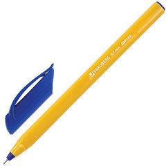 """Ручка шариковая масляная BRAUBERG """"Extra Glide Orange"""", СИНЯЯ, трехгранная, узел 0,7 мм, линия письма 0,35 мм, 142925"""