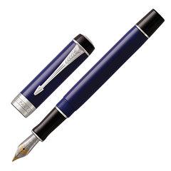 """Ручка перьевая PARKER """"Duofold Classic International Blue & Black CT"""", черная, 1947985"""