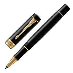 """Ручка-роллер PARKER """"Duofold Classic Black GT"""", корпус черный, позолоченные детали, черная, 1931385"""