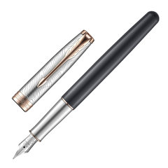 """Ручка перьевая PARKER """"Sonnet Explore PGT"""", корпус латунь, серый лак, черная, 2054826"""