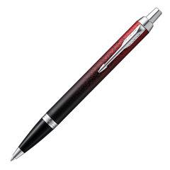 """Ручка шариковая PARKER """"IM Red Ignite CT"""", корпус латунь, детали хром, синяя, 2074031"""
