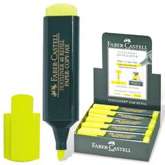 "Текстмаркер FABER-CASTELL ""1548"", скошенный наконечник 1-5 мм, флюоресцентный желтый"