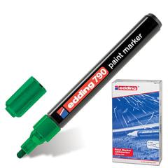 Маркер-краска лаковый EDDING, 2-4 мм, круглый наконечник, пластиковый корпус, зеленый