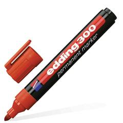 Маркер перманентный (нестираемый) EDDING, 1,5-3 мм, круглый наконечник, красный