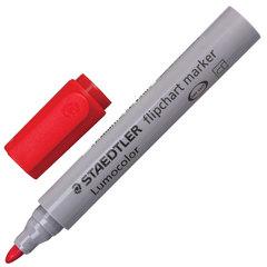 """Маркер для флипчарта STAEDTLER (Германия) """"Lumocolor"""", непропитывающий, круглый, 2 мм, красный"""