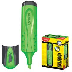 "Текстмаркер MAPED (Франция) ""Fluo Pep's Classic"", скошенный наконечник 1-5 мм, зеленый"