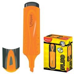 "Текстмаркер MAPED (Франция) ""Fluo Pep's Classic"", скошенный наконечник 1-5 мм, оранжевый"