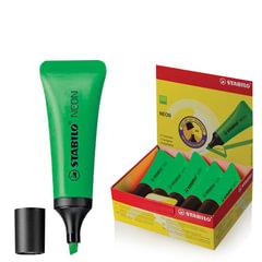 "Текстмаркер STABILO ""Neon"", скошенный наконечник 2-5 мм, зеленый"
