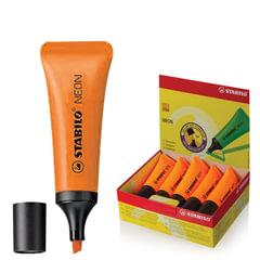 """Текстмаркер STABILO """"Neon"""", скошенный наконечник 2-5 мм, оранжевый"""