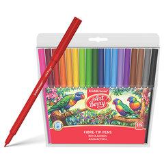 Фломастеры ERICH KRAUSE Artberry, 18 цветов, суперсмываемые, вентелируемый колпачок, пластиковая упаковка