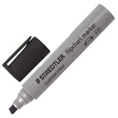 """Маркер для флипчарта STAEDTLER (Германия) """"Lumocolor"""", непропитывающий, скошенный, 2-5 мм, черный"""