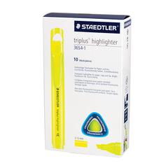 """Текстмаркер STAEDTLER (Штедлер, Германия) """"Triplus"""", трехгранный, скошенный, 2-5 мм, неоновый желтый"""