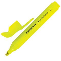 """Текстмаркер STAEDTLER (Германия) """"Triplus"""", НЕОН ЖЕЛТЫЙ, трехгранный, скошенный наконечник, 2-5 мм"""