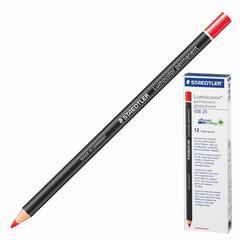 Маркер-карандаш сухой перманентный для любой поверхности, красный, 4,5 мм, STAEDTLER (Штедлер, Германия)