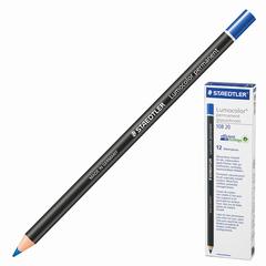 Маркер-карандаш сухой перманентный для любой поверхности, синий, 4,5 мм, STAEDTLER (Штедлер, Германия)
