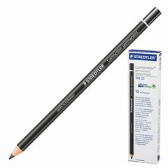 Маркер-карандаш сухой перманентный для любой поверхности, черный, 4,5 мм, STAEDTLER (Штедлер, Германия)
