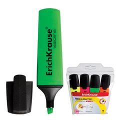 "Текстмаркеры ERICH KRAUSE, набор 4 штуки, ""Visioline V-12"", скошенные, 0,6-5,2 мм, (желтый, розовый, оранжевый, зеленый)"